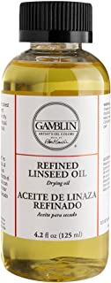 Gamblin 6004 GAMBLIN Refined Linseed Oil 125ml/4oz Oil Paint Medium