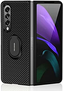 FTRONGRT Case for Samsung Galaxy Z Fold 3 5G, Folding All-Inclusive Clamshell Case, Protective Shell Integrated Ring Brack...
