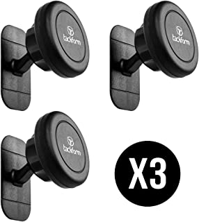 Sticky Magnetic Phone Holder - 3 Pack, TACKFORM [Car, Kitchen, Bedside, Bathroom] Cell Phone Car Mount [Phone Holder for Car] Adhesive Dash Kit for All Phones Including iPhone 7/8/X - Three Pack