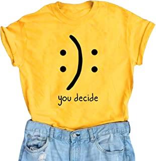 تی شرت های خنده دار گرافیکی زنانه BLACKMYTH تاپ های زیبا نوجوانان دختر نوجوان