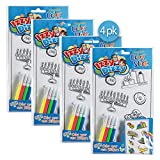 Izzy 'n' Dizzy Hanukkah Color and Stick - 4 Pack - Color Your Own Stickers - Includes 4 Markers - Hanukah Arts and Crafts - Gifts and Games
