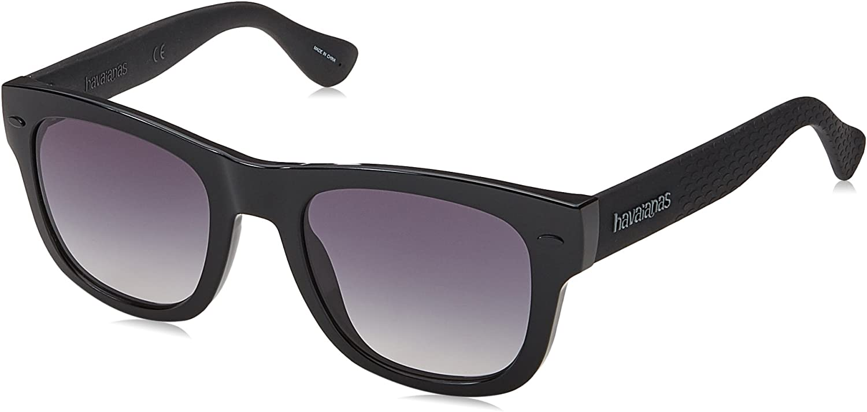 Havaianas Paraty m Square Sunglasses BLACK Smoke Gradient 50 mm