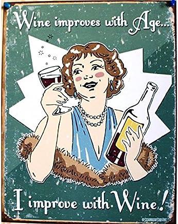 Plaque Humour Todays Menu Affiche Tole Style Retro Cuisine