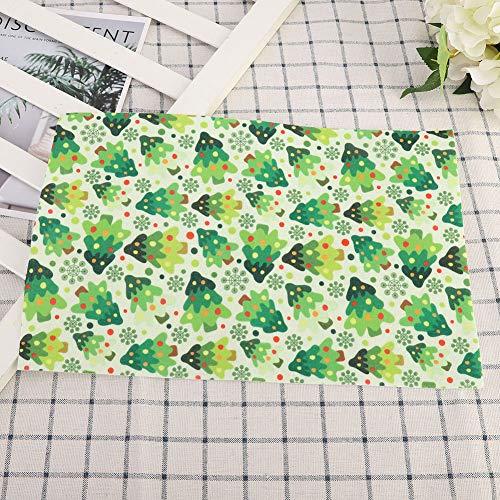 Corte a máquina de diferentes patrones de tela suave no tejida ideal para acolchar y coser para embalaje de regalo para arreglos de boda 8 piezas para manualidades de crismas