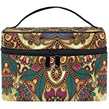 Grand Maquillage Train Case Mandala Nation Rétro Transportant Portable Zip Cosmétique BMakeup Sac Organisateur