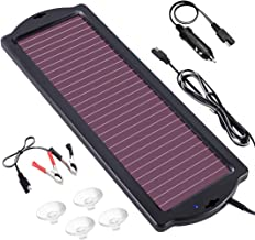 POWOXI 1.8W 12V Solar Trickle Charger for Car Battery, Portable and Waterproof, High Conversion Single Crystal Silicon Solar Panel car Battery Charger for Motorcycle Boat