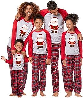 Baby Girls' Christmas Family Matching Pyjama, Mommy and Me Sleepwear Romper Set