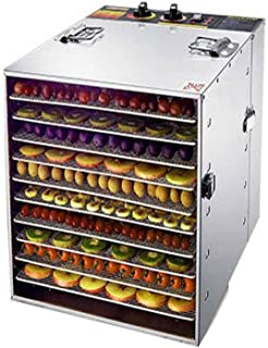 YUNTAO Food dehydrator, Temperature Controlled Fruit Dryer, Intelligent Adjustable Time Mute Energy Saving 10 Layer Stainl...