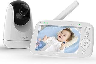 "Baby Monitor, VAVA 720P 5"" HD Display Video Baby Monitor with Camera and Audio, IPS Screen, 900ft Range, 4500 mAh Battery,..."
