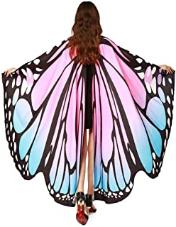 Xuways Women's Butterfly Wings Shawl Scarves Fairy Ladies Cape Nymph Pixie Costume Cosplay Accessory