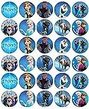 30 obleas comestibles para cupcakes de Frozen