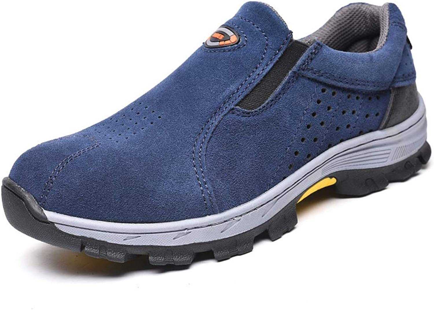 Easy Go Shopping Against Smashing And Piercing Summer Breathable Predective shoes Cricket shoes (color   bluee, Size   44)