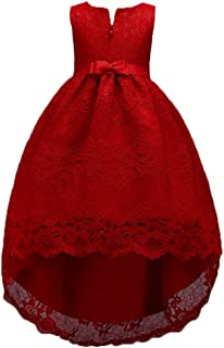 Little Big Girls Tutu Dresses Sleeveless Bow Tie Back Lace Princess Pageant Prom Ball Gown