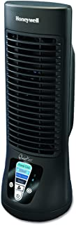 Honeywell QuietSet Mini Tower Table Fan, HTF210B, 1 Pack, Black