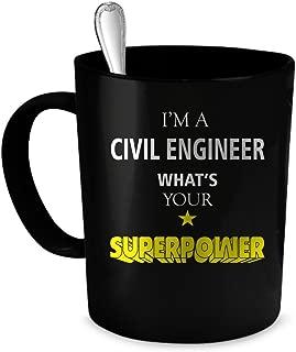 Civil Engineer Coffee Mug. Civil Engineer gift 11 oz. black