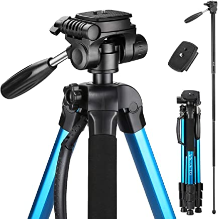 Victiv 72-inch Camera Tripod Aluminum T72 Max Height...