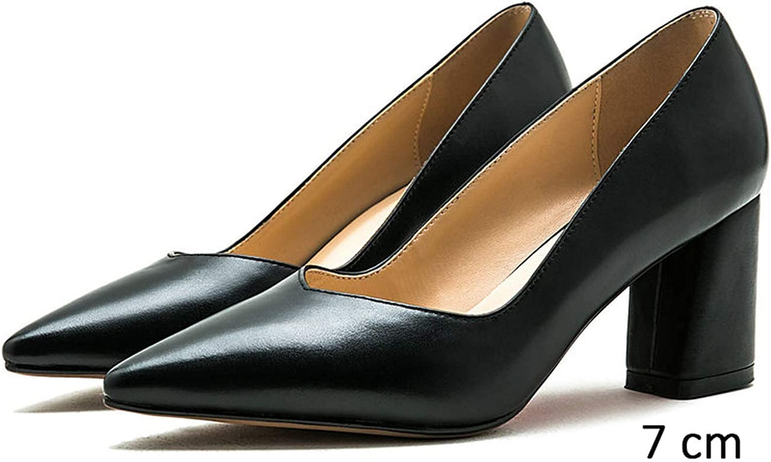 Meiguiyuan High Heels Office Women Pumps Two Heels Classic Spring Women shoes Slip on Pointed Toe shoes