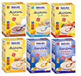 Bebivita Brei Mix 6: Milchbreie Grieß, Frucht, Keks, Kakao, Milchreis m. Apfel u Keks-Banane je 500g