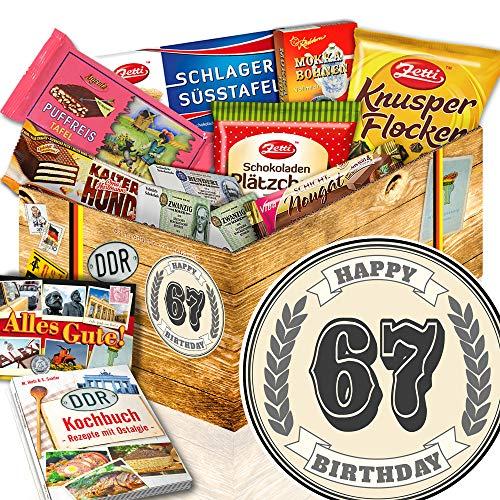 67. Geburtstagsgeschenk / Schoko Nostalgiebox / Geschenke 67 Geburtstag Frau