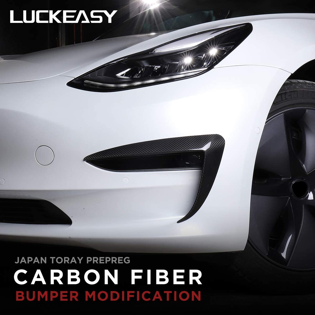 LUCKEASY Our shop OFFers the best service Automotive Exterior Accessories Carbon Fiber Mod Bumper Complete Free Shipping
