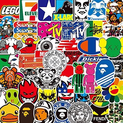 100 pcs Pack Fashion Brand Cool Graffiti Stickers No Repetition Logo Sticker Vinyl Cool Skateboard product image