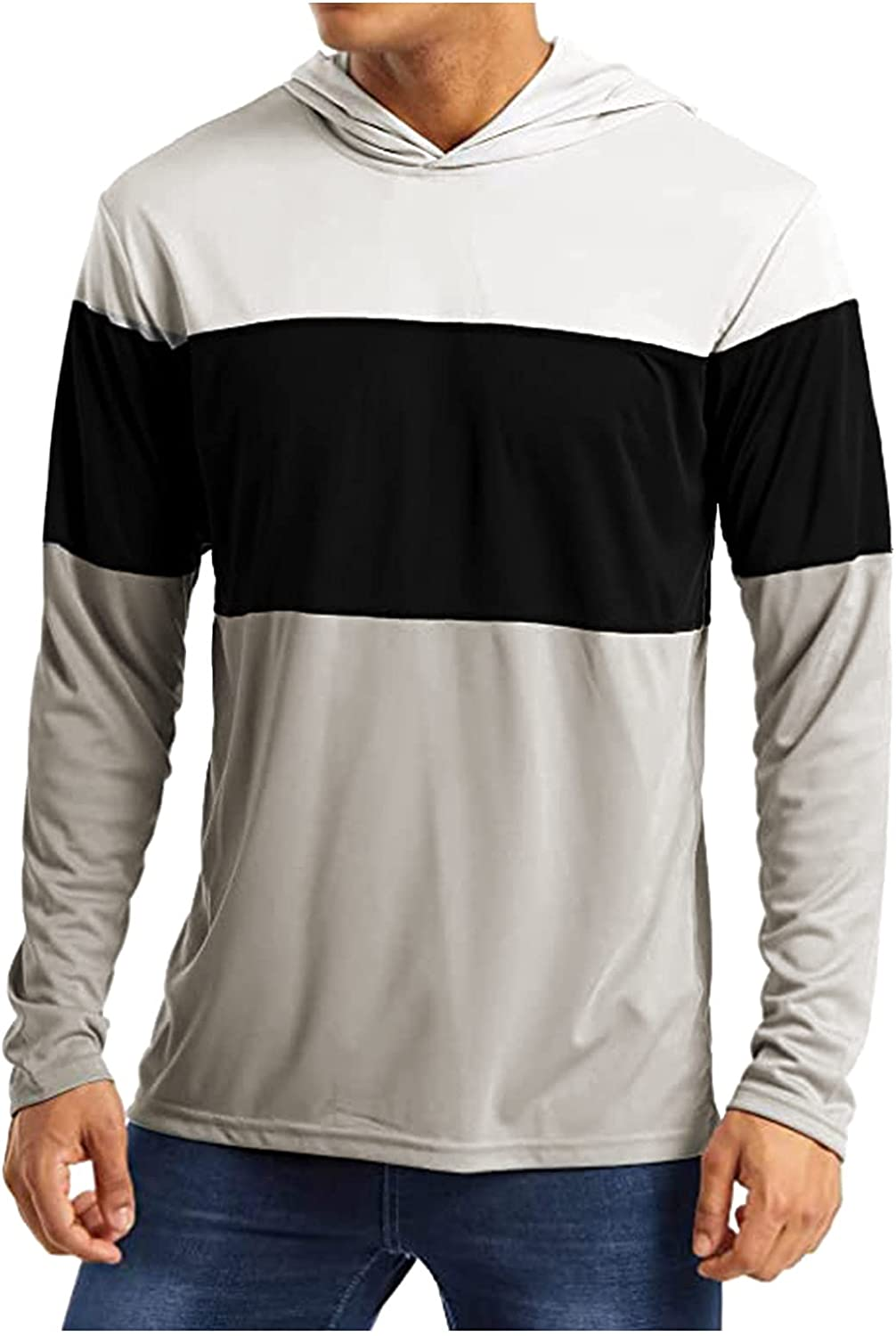 Tops for Now on sale Men Basic Solid Color Jacket Long Selling Sleeve Hooded Fashion