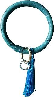 Sponsored Ad - Key Ring Bracelet Large Tassel Circle Bangle for Wrist Wristlet Keychain Women Gifts