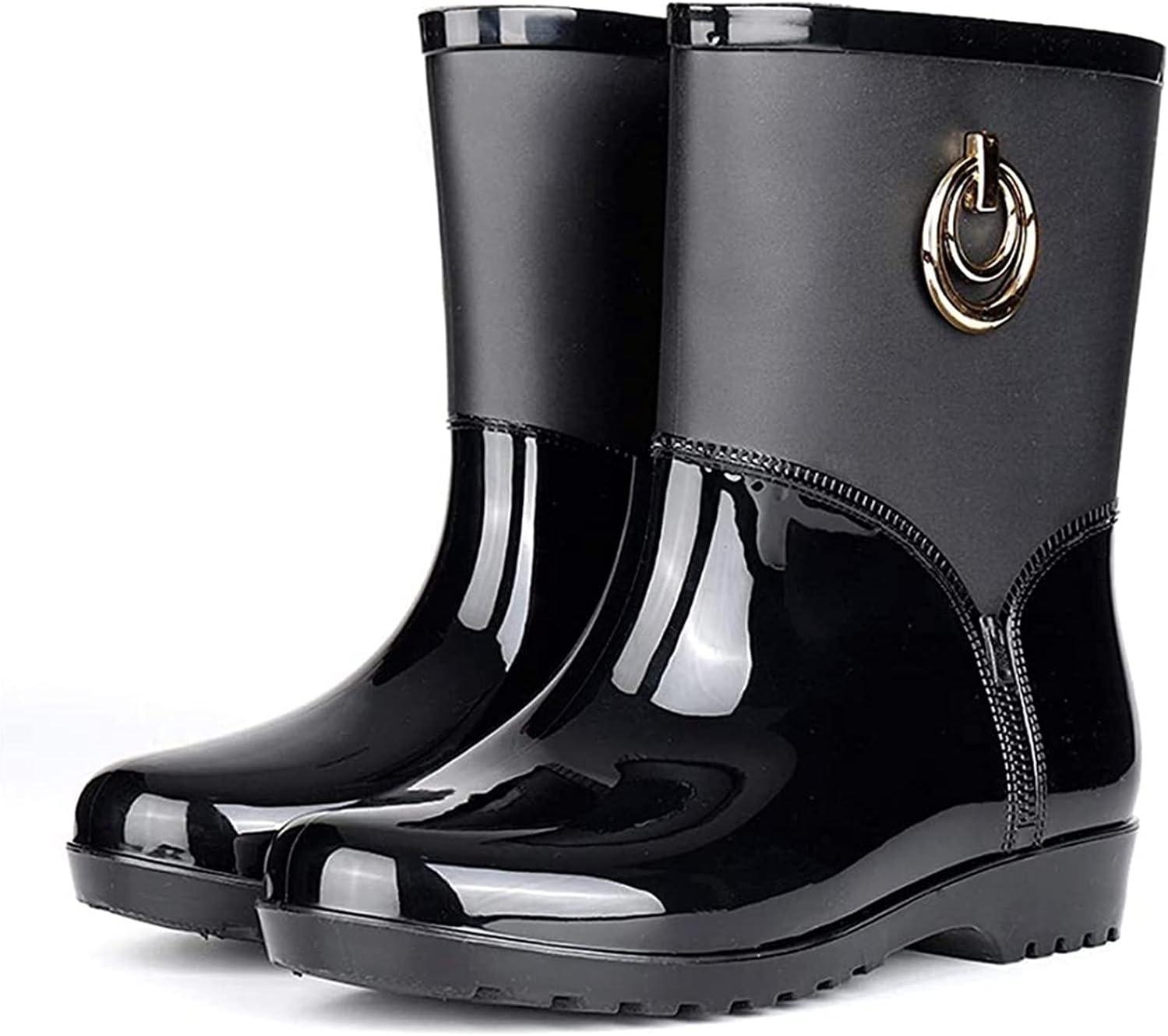 Dallas Mall YIWANGO Fashion Middle Tube Rain Boots In stock Bottom Thick Wear-Resista