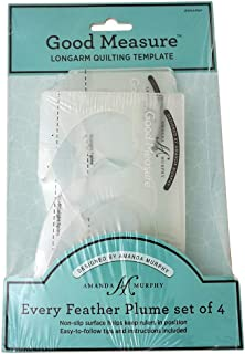 Good Measure - Every Feather 4 pcs Longarm Quilting Templates