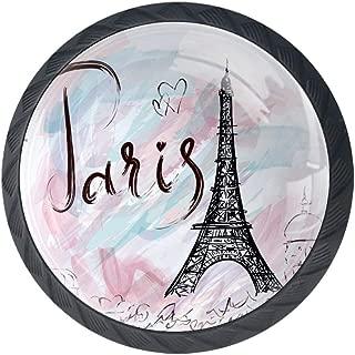 Anmarco Paris Eiffel Tower Kitchen Cabinet Knobs Decorative Knobs Cabinet Closet Drawers Dresser Pull Handle 4pcs