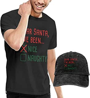 Camisetas y Tops Hombre Polos y Camisas, Dear Santa Fashion Men's T-Shirt and Hats Youth & Adult T-Shirts