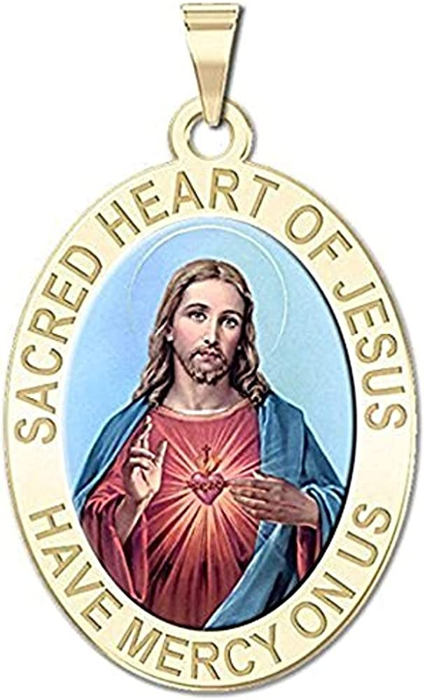 New item Miami Mall PicturesOnGold.com Sacred Heart of Jesus Color Medal - Religious