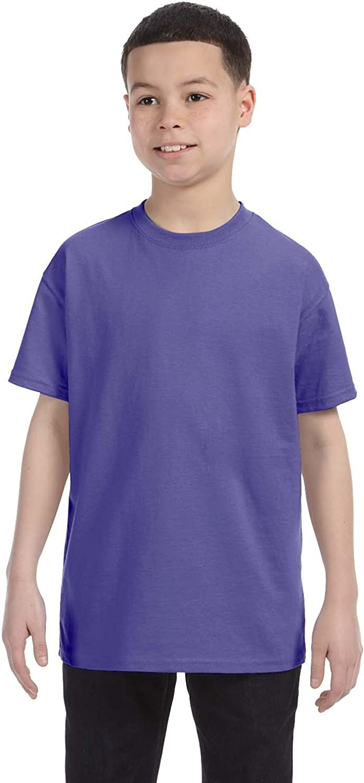By Gildan Youth 53 Oz T-Shirt - Violet - XS - (Style # G500B - Original Label)