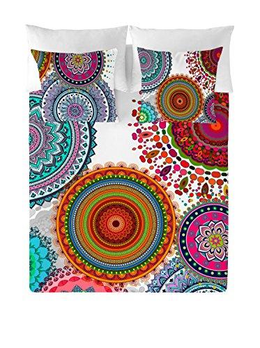 NATURALS Juego De Funda Nórdica Freya Blanco/Multicolor Cama 90 (150 x 220 cm + 45 x 110 cm)