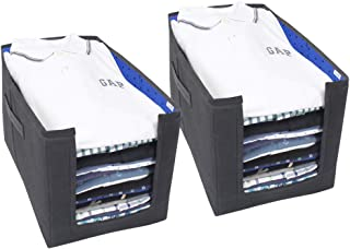 PrettyKrafts Shirt Stacker Organizer (Blue) - Set of 2