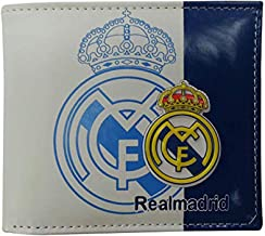 ZQfans Football Club Wallet Soccer Team Logo Printed Wallet Unisex PU Leather Wallets for Football Fans (Real Madrid, 4.33