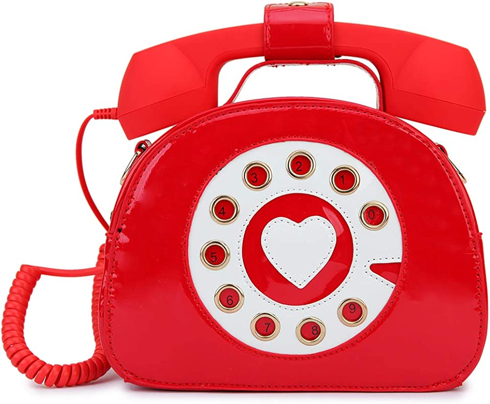 ENJOININ Fashion Price reduction Patent Leather Retro Novelty Shape In stock Phone Women