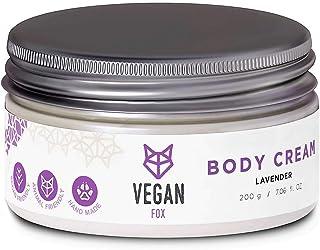 Vegan Fox - Crema hidratante corporal con lavanda y aloe vera - Crema corporal vegana sin crueldad con los animales - 200 g