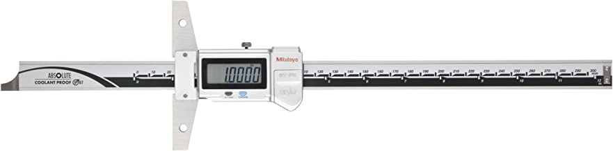 Mitutoyo 571-211-30 ABSOLUTE Digimatic LCD Depth Gauge, Caliper Type, 0-6