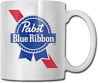 JIAYICENK Pabst Blue Ribbon Gift Coffee Cups & Mugs 12 Ounce/330 Ml