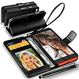 GBOS Rich Leather Stand Wallet Flip Case Cover Book Pouch Phone Bag Antique