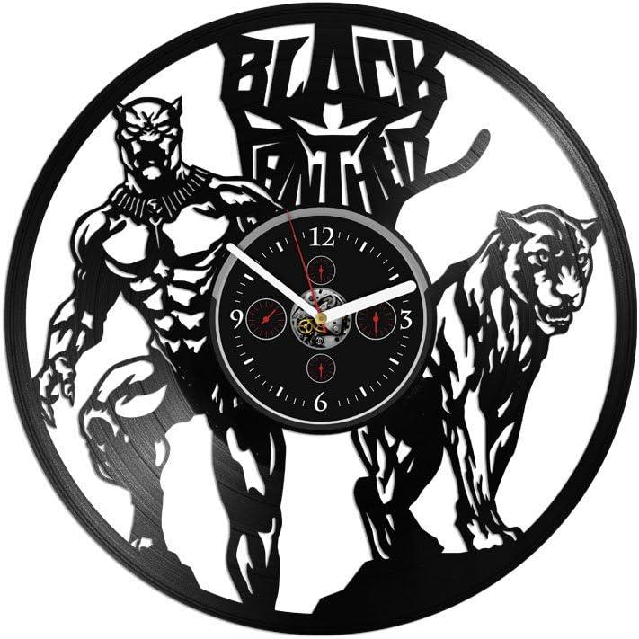 Max 41% OFF Handmade Spasm price Vinyl Record Wall Clock Panther inch Black Bla 12
