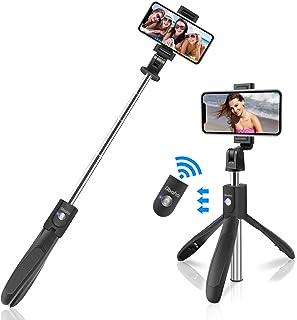 Palo Selfie Trípode 3 en 1 Selfie Stick Bluetooth Extensible Rotación de 360 ° con Control Remoto para iPhone 11/11 Pro/X/ Samsung Galaxy 10/S11/Huawei P30 Pro Otros Android e iOS (4.5-6.5)