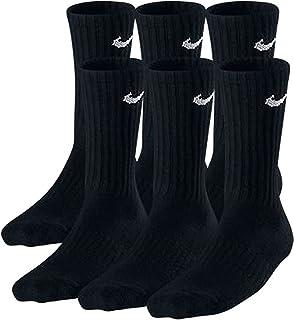 Boys Crew Socks - 6 Pair Black