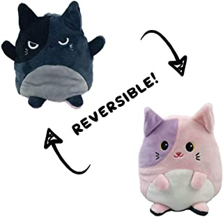 AioTio Double-sided Cat Flip Plushie|Show your mood to the parents/kids without any word|As an interesting gift to kids an...