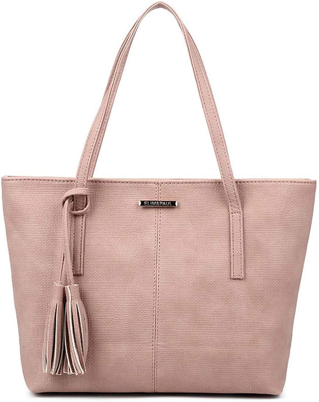 Eeayyygch Damen Hobos Schultertaschen Totes Schulranzen Top-Griff Handtaschen PU-Leder (Farbe   Rosa) B07JR96Y73