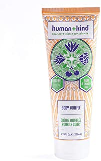 Human+Kind Body Souffle - Lightly Whipped Cream Moisturizer is Quickly Absorbed - Great for Dry or Eczema-Prone Skin - Natural, Vegan Skin Care - 6.76 fl oz Tube
