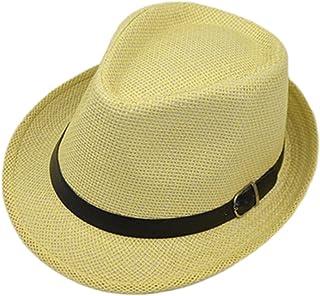 ec756944d8881 Y-HOT Summer Straw Fedora Hat Short Brim Beach Sun Cap