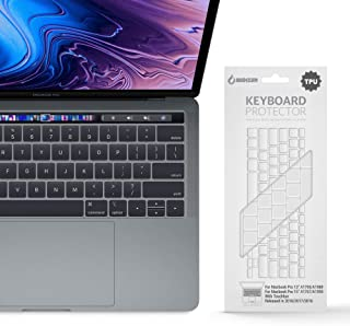 iBenzer Macaron Series Silicone Keyboard Cover for MacBook Pro 13'' or 15'' with Touch Bar (2018 2017 2016 Model: A1706 A1707 A1989 A1990), TPU,MKC05TPU