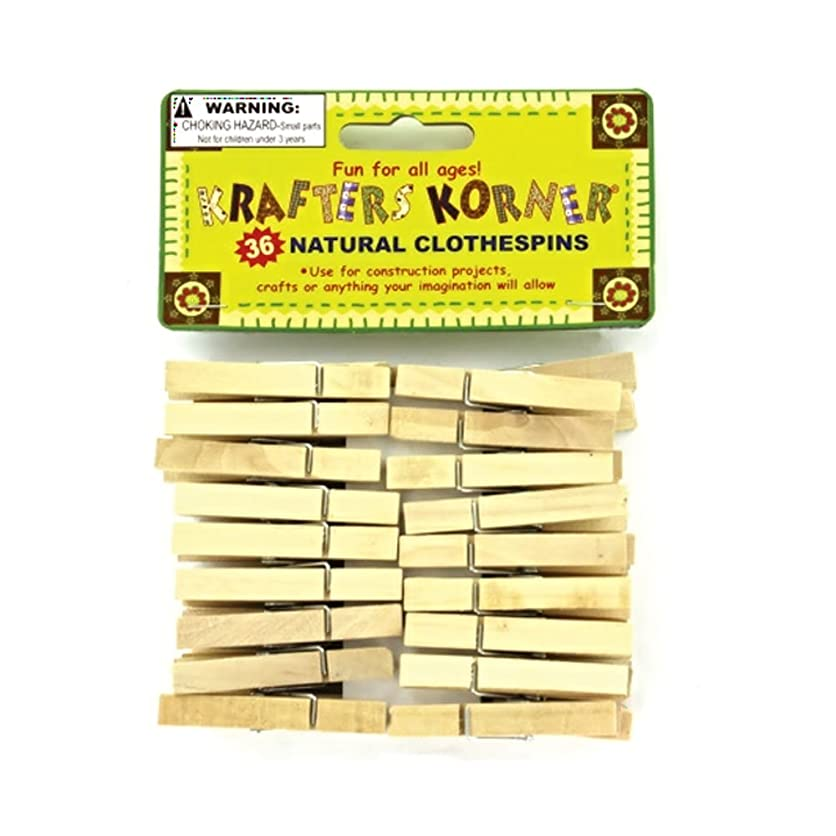 JT Crafts Clothespins Decorative Natural Wood Craft Clothespins-24 Pack zmfp63220